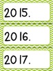 Days, Months, Years, and Dates~Editable  (bright chevron)