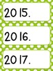 Days, Months, Years, and Dates~Editable  (bright polka-dots)