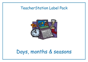 Days, Months and Seasons Labels