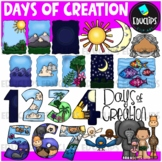 Days Of Creation Clip Art Bundle {Educlips Clipart}