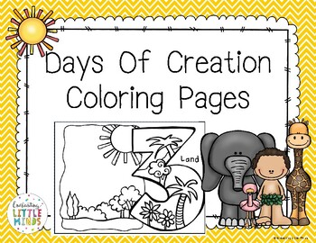 Days Of Creation Coloring Pages By Enchanting Little Minds Tpt