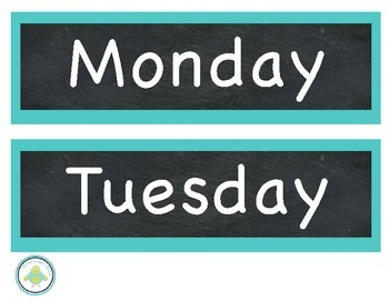 Days Of The Week! Chalk Theme!