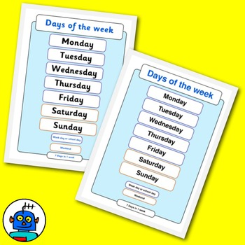 Days Of The Week Classroom Posters. In the Jolly Phonics font and more.