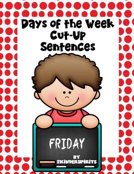 Days Of The Week Cut-Up Sentences