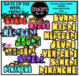 Days Of The Week - FRENCH -  Clip Art Bundle {Educlips Clipart}