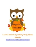 Days Of The Week Fall Owl Cut And Paste