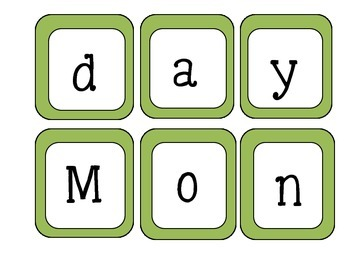 Days Of The Week ~ Fall Pocket Chart Activity