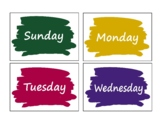 Days Of The Week Flashcards (colorful flashcards for kinde