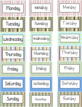Days Of The Week Printable FREEBIE