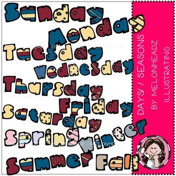 Days / Seasons clip art- by Melonheadz