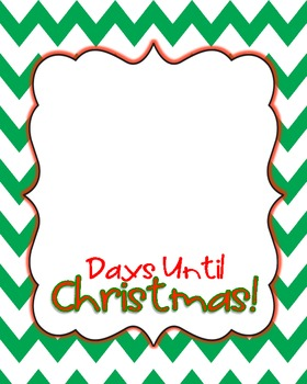 Until Christmas.Days Until Christmas Printable