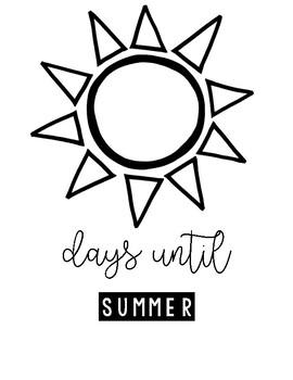 Days Until Signs B&W