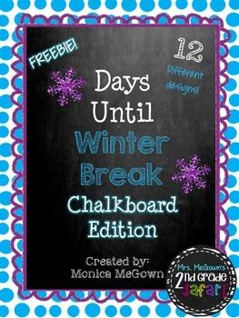 Days Until Winter Break: Chalkboard Edition (A Countdown t