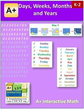 Days, Weeks, Months, and Years (lesson and a worksheet)