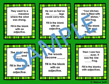 Days With Frog and Toad Adjective Task Cards