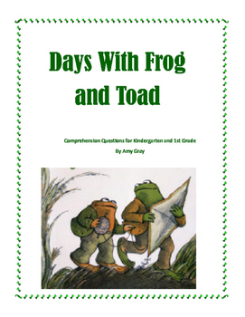 Days With Frog and Toad Comprehension Questions