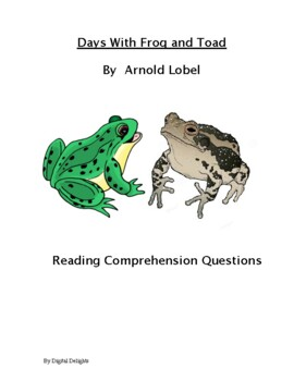 Days With Frog and Toad Reading Comprehension Questions