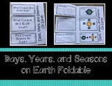 Days, Years, and Seasons Foldable (Interactive Notebook on Rotation, Revolution)