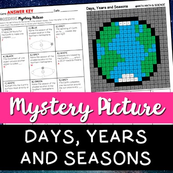 Days, Years and Seasons: Science Mystery Picture