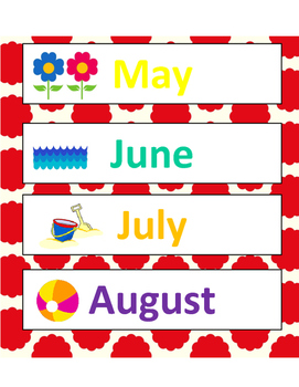 Days and Months Cards