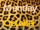 Days and Months Animal Print