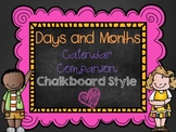 Days and Months Calendar Companion - Chalkboard Style