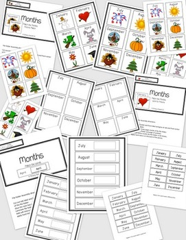 Days and Months {Calendar Skills} File Folders for Special Education