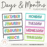 Days and Months Flashcards {Rainbow Classroom Decor}