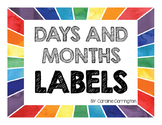 Days and Months Labels
