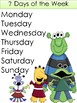 Days and Months Monster Theme
