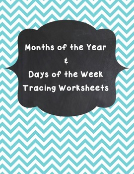 Days and Months Worksheets