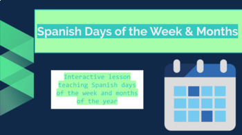 Days and Months in Spanish