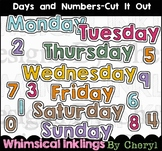 Days and Numbers Cut It Out  Clipart Collection