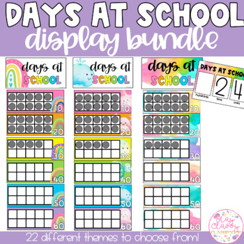 Days at School Tens Frame Display