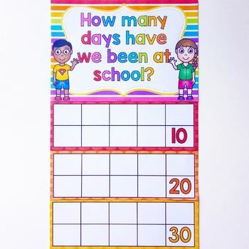Days in School Calendar Display