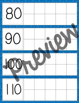 Days in School- Calendar Ten Frames (Blue Squiggles)