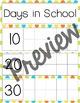 Days in School- Calendar Ten Frames (Summer Polka Dot)