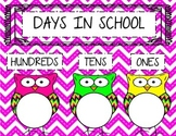 Days in School Chart- Owl Theme