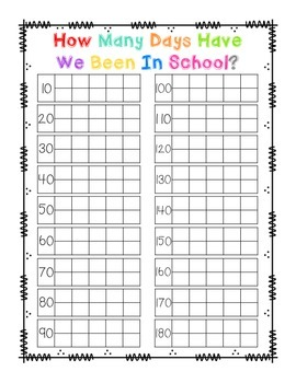 Days in School Chart with Ten Frames