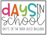 Days in School & Days of the Week [Mo Willems theme]