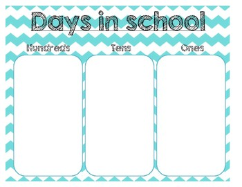 Days in School Place Value Poster FREE!