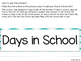 Days in School Ten Frame Chart