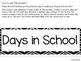 Days in School Ten Frame Chart - Black Chevron