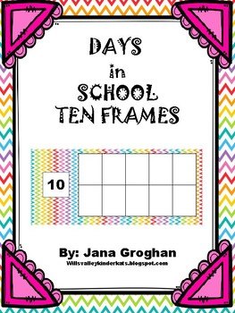 Days in School Ten Frames with Place Value Section_Chevron