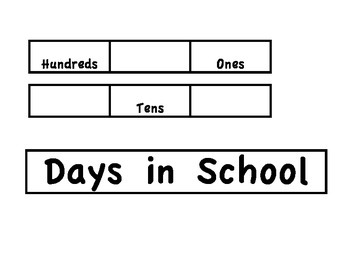 Days in School using Place Value