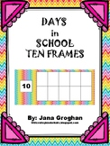 Days in School with Ten Frames and Place Value Section-Chevron 2