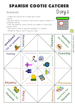 Days in Spanish Activity / Game