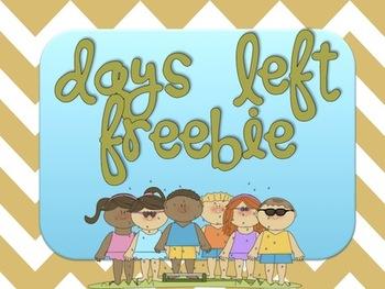 Days left of 4th Grade FREEBIE