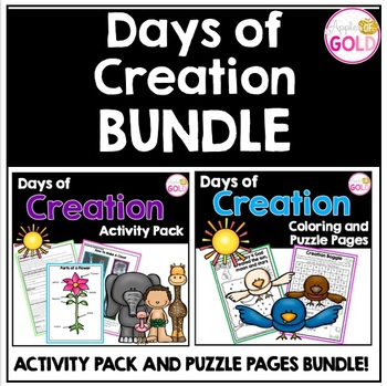 Days of Creation Activity Pack and Colouring/Puzzle Pages BUNDLE