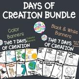 Days of Creation Banner Bundle- Color and Black & White Pr